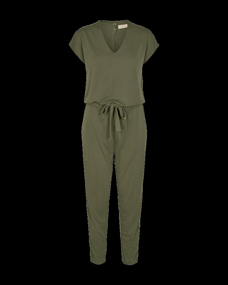 Freequent jumpsuit olijf