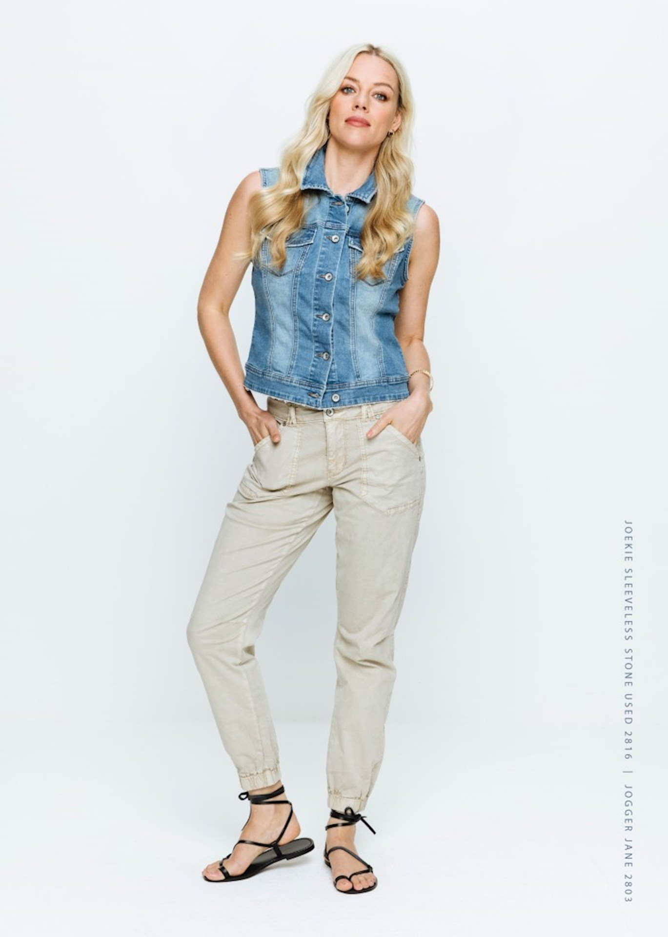 Red Button Gilet jeans